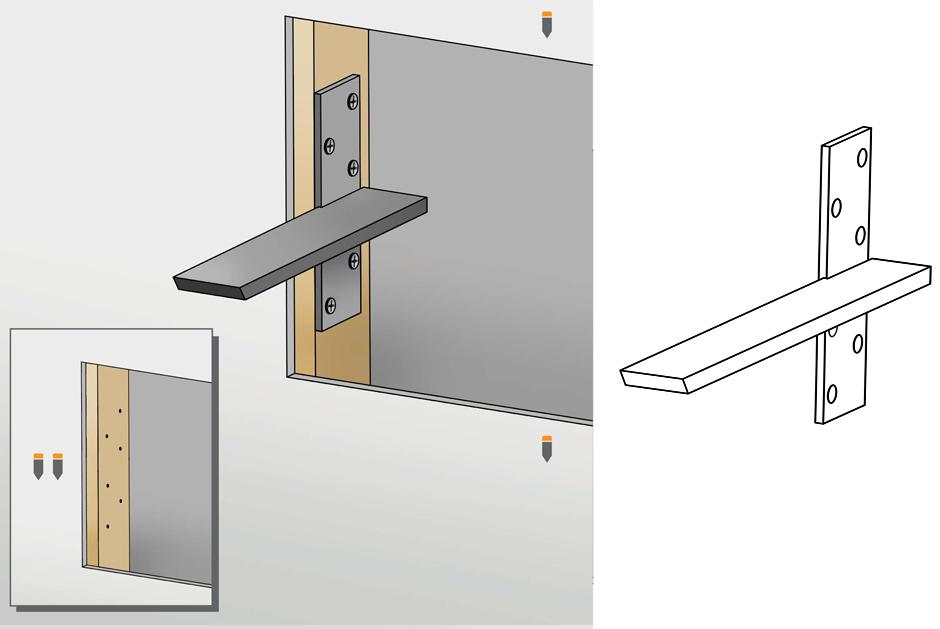 Granite Bracket Install Guide Floating Wallmount Countertop