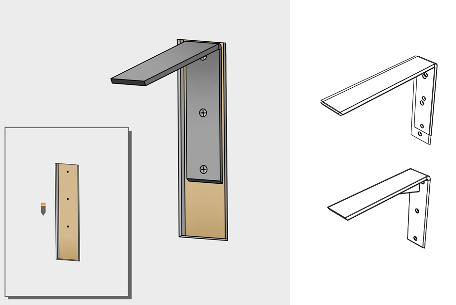 Granite Bracket Install Guide Front Mounting Countertop